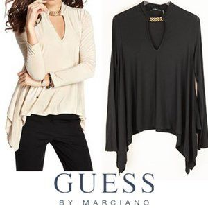 Guess By Marciano Danika Top Black Gold Medium